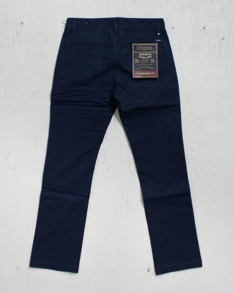 BRIXTON -RESERVE STANDARD FIT CHINO NAVY PANT  - 2