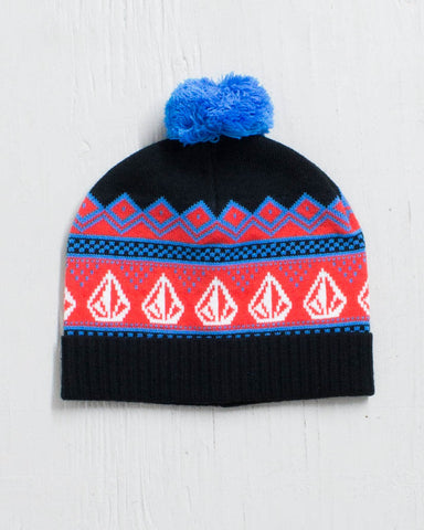 VOLCOM -SEARCH BEANIE FIRE RED