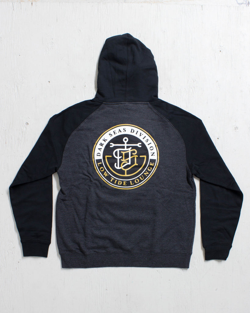 DARK SEAS -GOLD LABEL P/O FLEECE CHARCOAL/BLACK  - 2