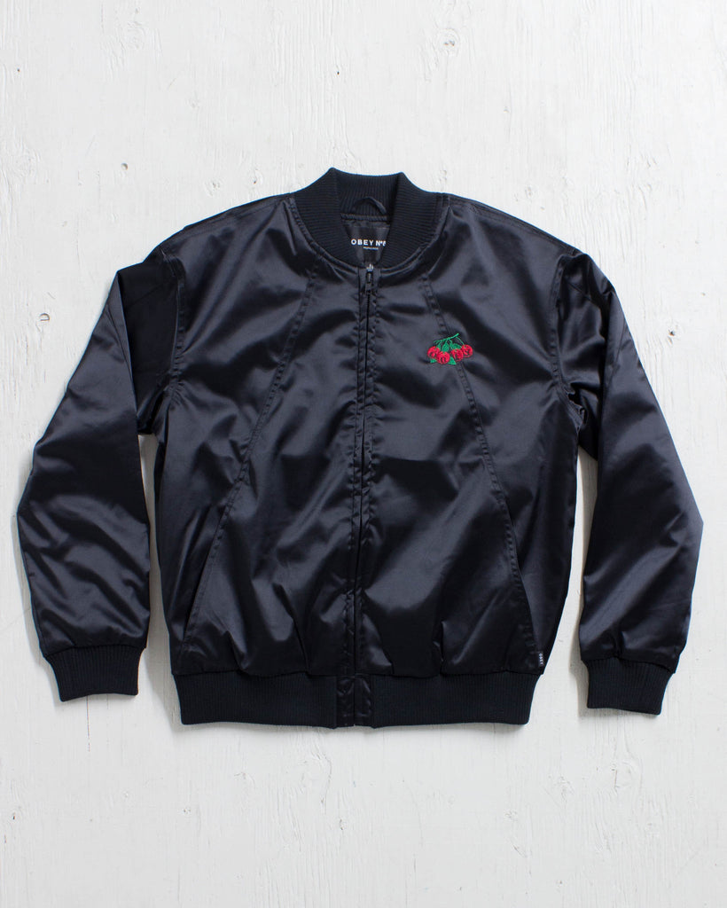 Manteau OBEY SADIE SATIN JACKET BLACK
