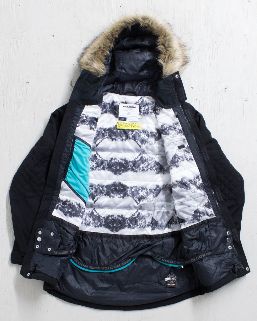 VOLCOM -SHADOW INS JACKET BLACK  - 2