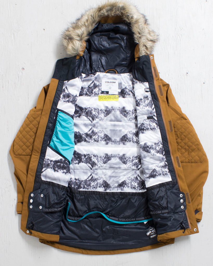 VOLCOM -SHADOW INS JACKET COPPER  - 2