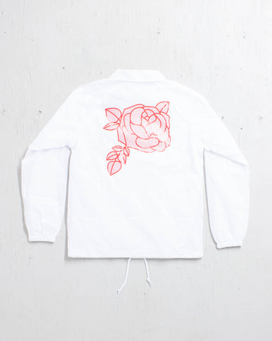 PRIMITIVE -ROSE LINED COACHES JKT WHITE  - 1