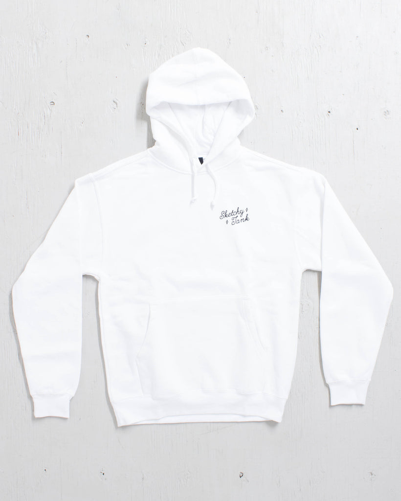 SKETCHY TANK -THE END HOODY BLANC  - 2