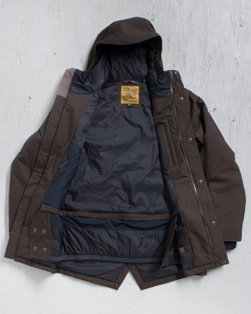 AIRBLASTER -HOT GULLY PARKA BRINDLE MIX  - 3