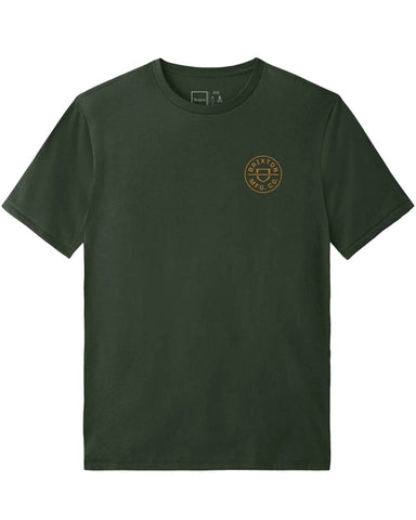 CREST CROSSOVER S/S TEE HUNTER GREEN