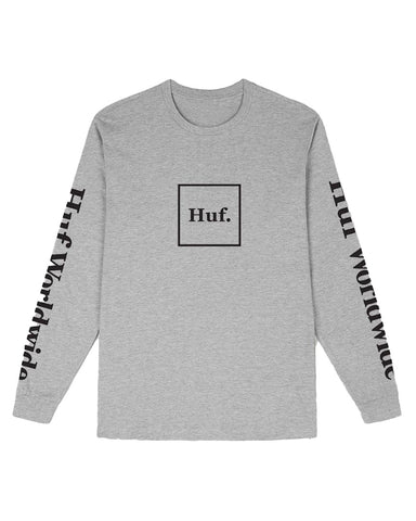 DOMESTIC L/S TEE GREY HEATHER