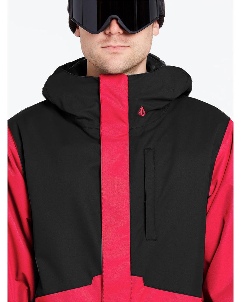 Snow coat VOLCOM Mens 17 Forty Ins Jacket Red Combo 2022