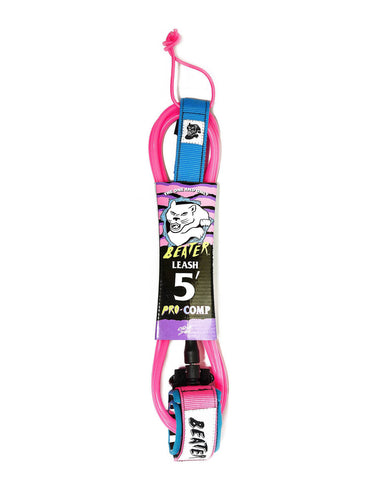 5' PRO-COMP LEASH PINK/BLUE