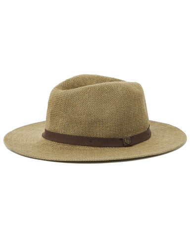 MESSER KNIT PACKABLE FEDORA LIGHT OLIVE