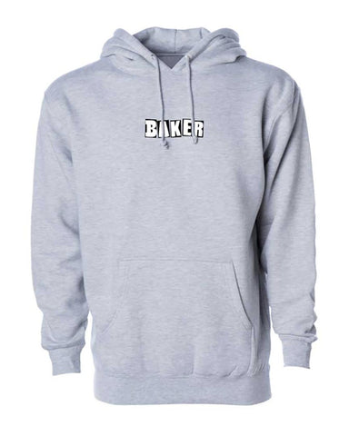 BRAND LOGO HOODIE HEATHER GRAY