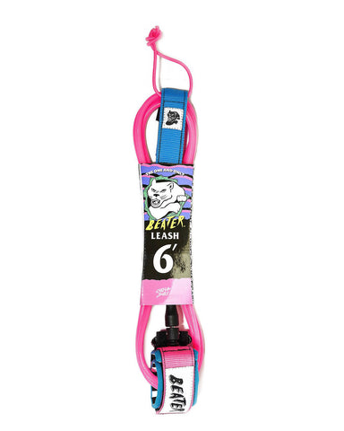 6' LEASH PINK/BLUE