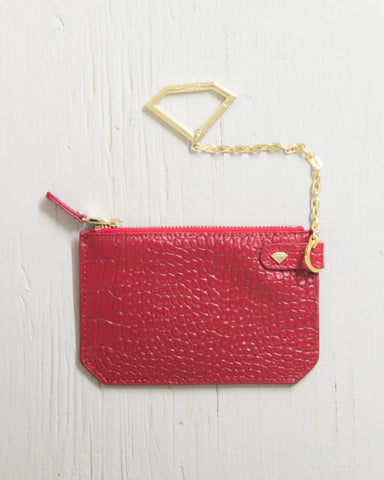 DIAMOND -CHAIN POUCH XL CROC