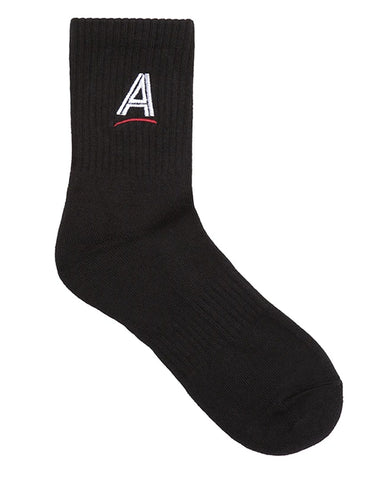 ESTATE EMBROIDERED SOCK BLACK