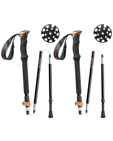 UNION TELESCOPIC TOURING POLES ALUMINUM ORANGE 2021