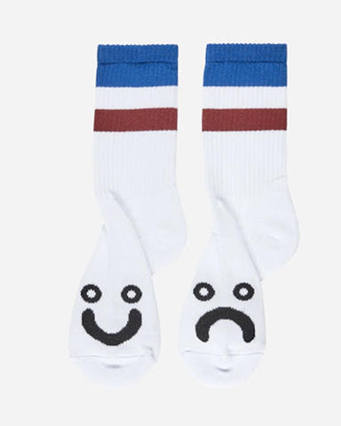 HAPPY SAD SOCKS STRIPES BLUE