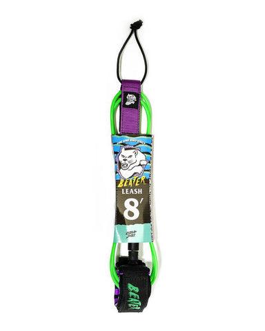 8' LEASH GREEN/PURPLE