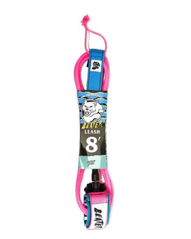 8' LEASH PINK/BLUE