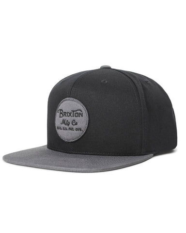 WHEELER SNAPBACK - BLACK/CHARCOAL