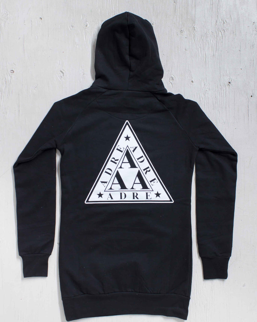 ADRE LAMBDA DRESS HOOD NOIR