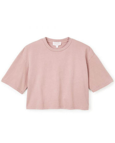 AMANDA S / S CROP TEE PURPLE