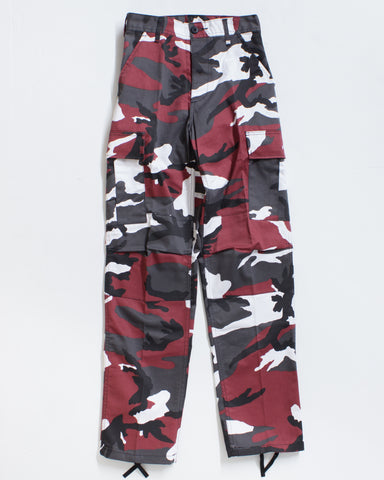 BDU CARGO RELAXED FIT RED CAMO