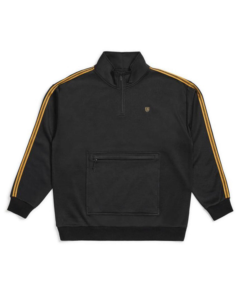 Cotton ouaté BRIXTON B-SHIELD III 1/2 ZIP BLACK