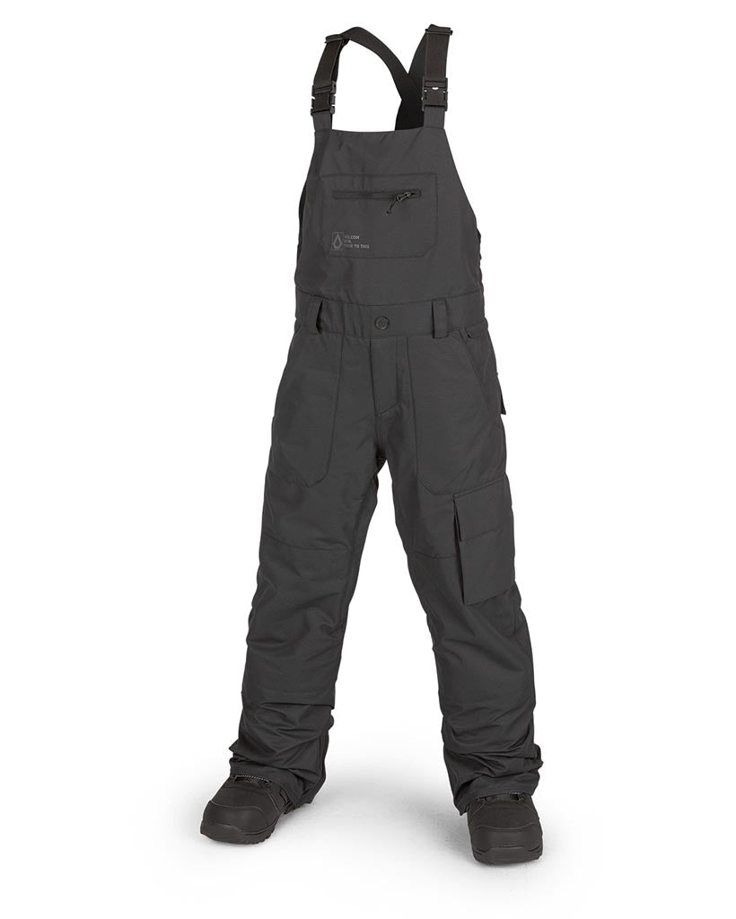 Pantalon neige VOLCOM BIG KIDS BARKLEY BIB OVERALL BLACK