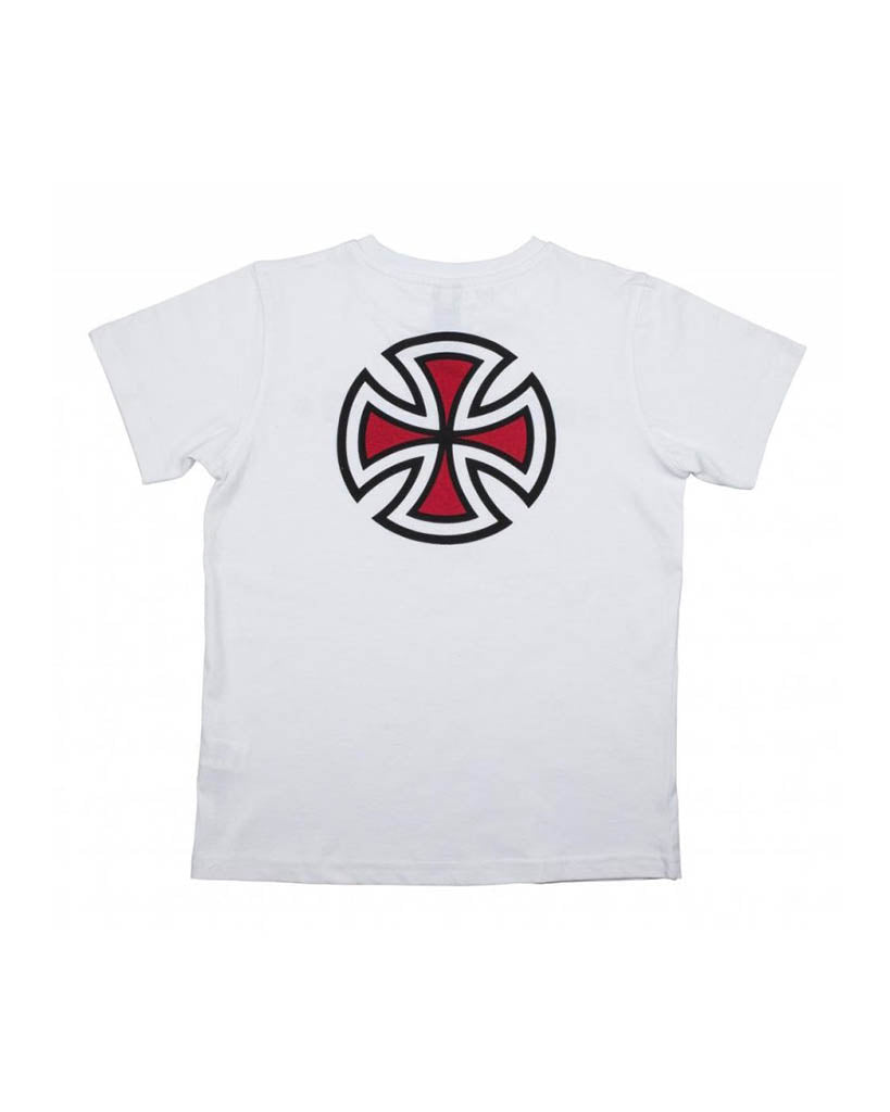T-shirt INDEPENDENT BAR/CROSS WHITE