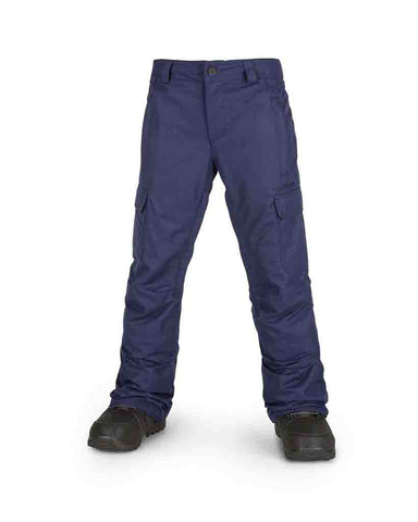 BIG KIDS CARGO INSULATED SNOW PANTS NAVY
