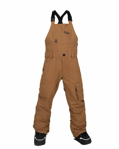 BIG YOUTH BARKLEY OVERALL BIB - CARAMEL
