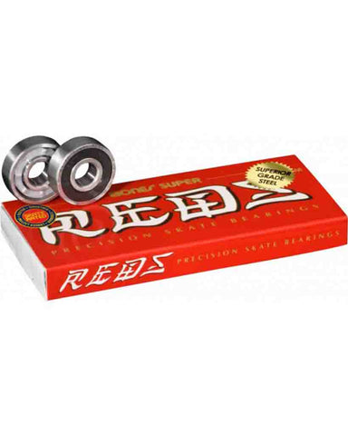 SUPER REDS® SKATEBOARD BEARINGS 8 PACK