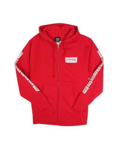 BOXED LOGO RED ZIP