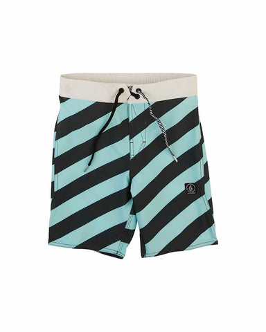 STRIPEY ELASTIC YOUTH 8-14 PALE AQUA