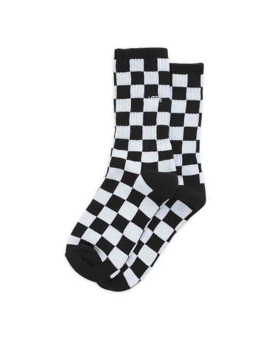 BOYS CHECKERBOARD CREW SOCK BLACK WHITE