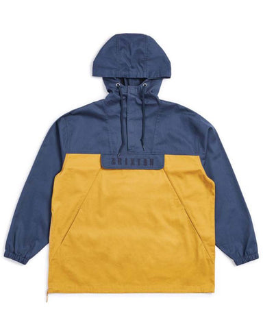 BRETON ANORAK JACKET - WASHED NAVY/MAIZE
