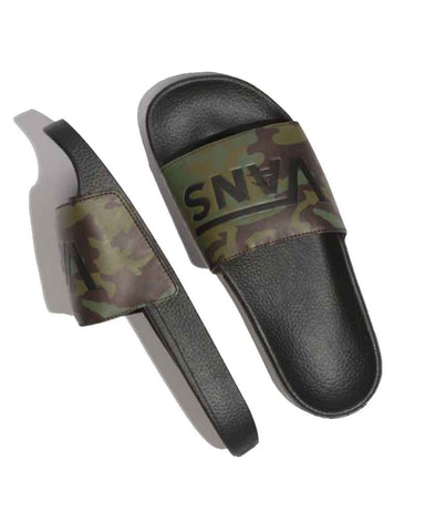 VANS CAMO SLIDE-ON BLACK-GREEN SANDALS