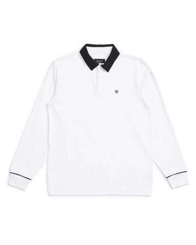 CARLOS LS POLO WHITE-BLACK