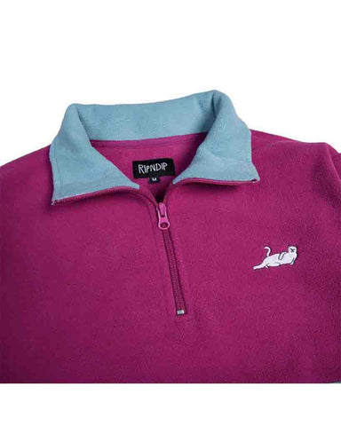 CASTANZA 3/4 ZIP UP FUSCIA AQUA