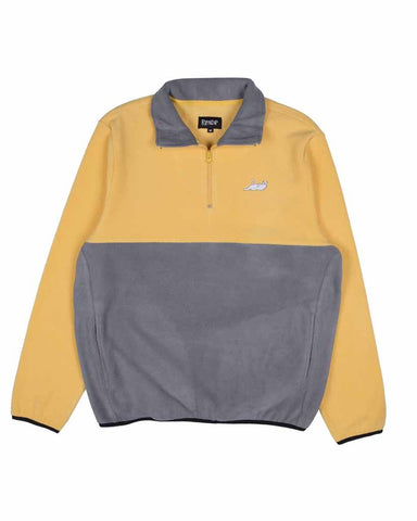 CASTANZA 3/4 ZIP UP GREY/YELLOW