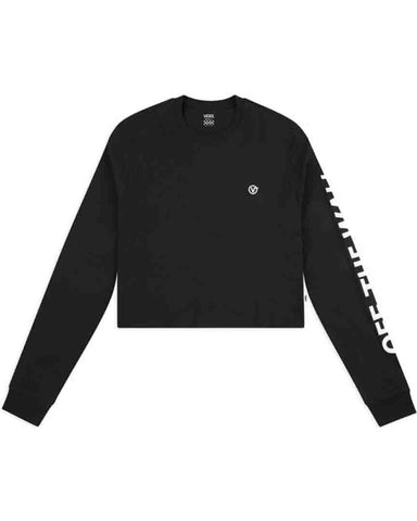 CASTMORE LS CROP BLACK