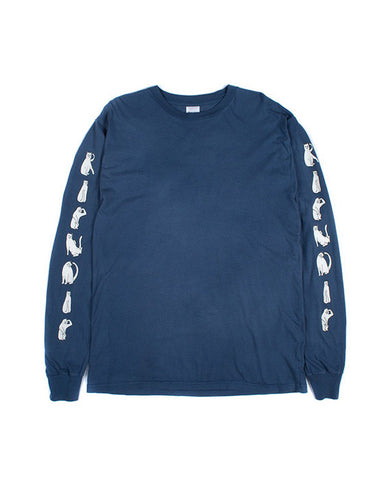 CATS LS WASHED BLUE