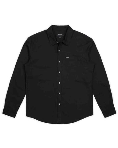 CHARTER OXFORD LS WOVEN BLACK