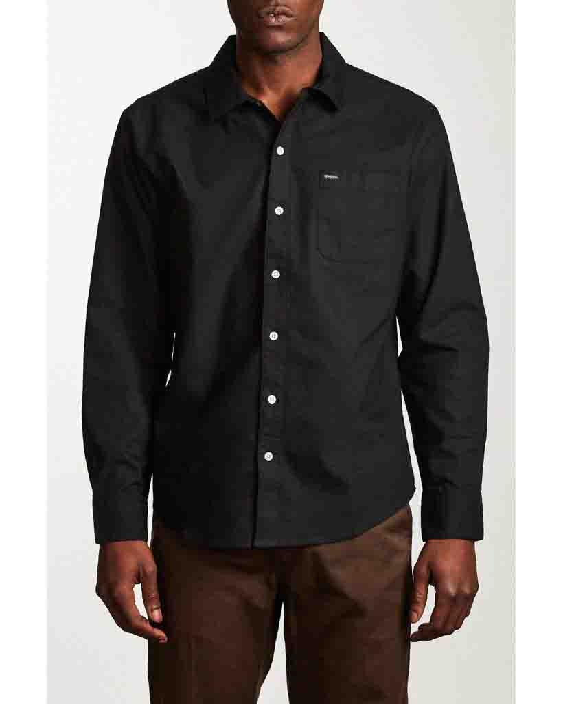 Chemise BRIXTON CHARTER OXFORD LS WOVEN BLACK