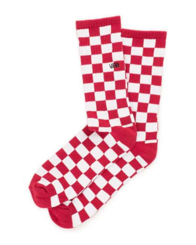 CHECKERBOARD CREW RED/WHITE