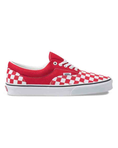 CHECKERBOARD ERA RACING RED-TRUE WHITE