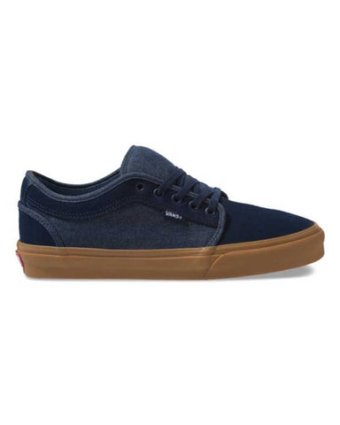 VANS CHUKKA LOW DRESS BLUES SKATE SHOES