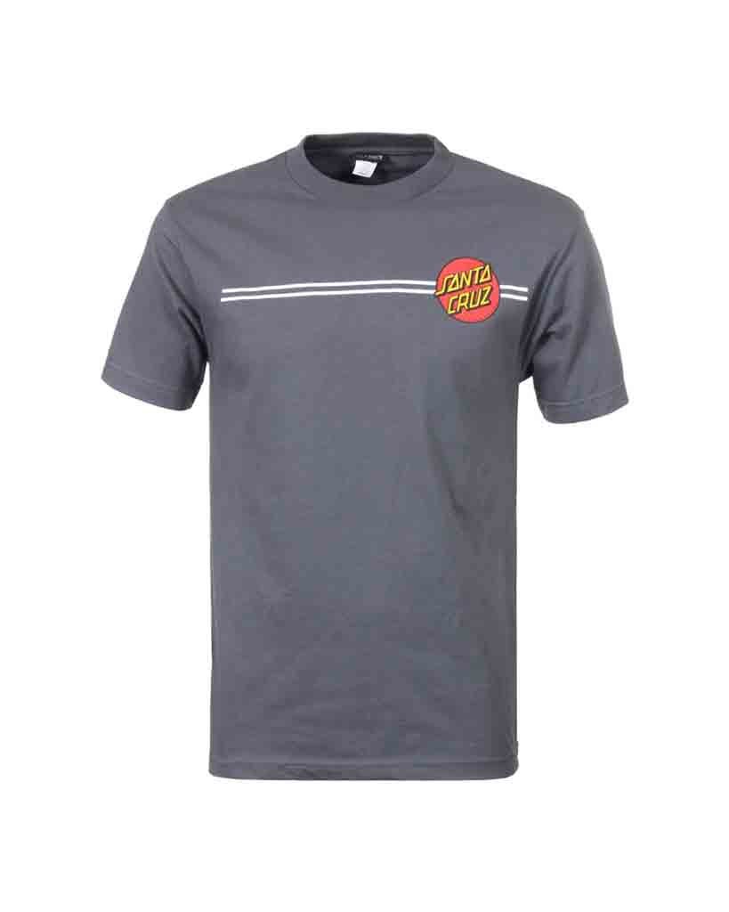 SANTA CRUZ CLASSIC DOT T-shirt CHARCOAL HEATHER