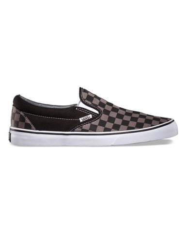 CLASSIC SLIP-ON BLACK PEWTER CHECKERBOARD