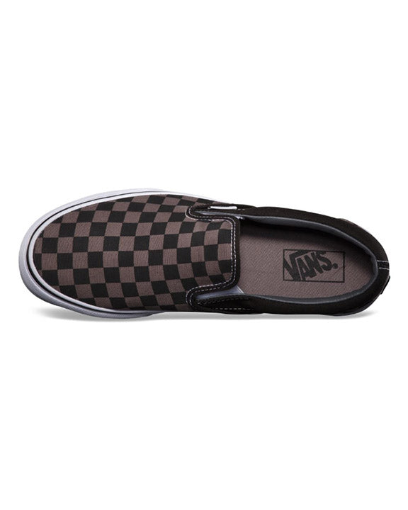 Souliers VANS CLASSIC SLIP-ON BLACK PEWTER CHECKERBOARD